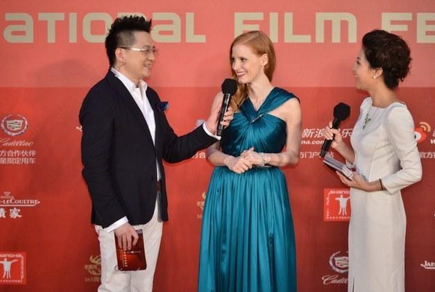 上海/著名影星杰西卡查斯坦以展映影片《刺杀本拉登》主创人员的...